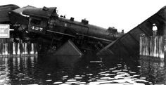 Local call number: Rc10680  Title: Florida East Coast Railway train wreck: Jupiter, Florida   Date: 1934  Physical descrip: 1 photoprint; b&w; 8…