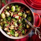 Try the Roasted Brussels Sprouts with Pine Nuts and Bacon Recipe on williams-sonoma.com/
