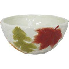 Mossy Oak Leaf Bowls, Set of 6, Multicolor