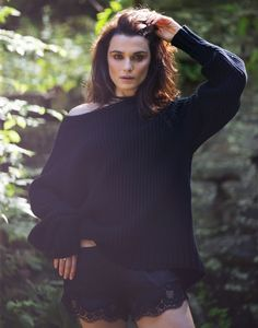 Rachel Weisz keeps it natural in The Row oversized sweater and briefs for The Edit Magazine August 2016