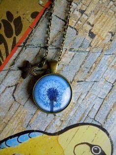 Medaillonketten - Kette Pusteblume mit Anhänger - ein Designerstück von Love-design bei DaWanda