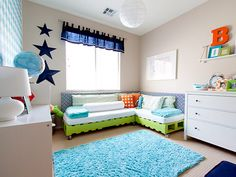 rolling sectional couch/bed for two boys! LoveProject Nursery Kids Room Decorating Ideas