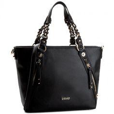 Torebka LIU JO - Shopping Con Zip La N17196 E0064  Nero 22222