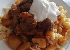 Zúzapörkölt vegyes körettel recept foto Chana Masala, Ethnic Recipes, Food, Essen, Meals, Yemek, Eten