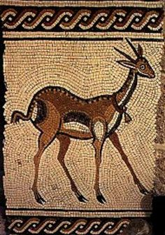 mosaic from madaba, jordan, an old mosaic city- notice the running form used at top and bottom.