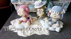 Monkey amigurumi crochet no see no speak no hear by TheSweetKnots, $115.00