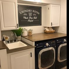 Laundry Room Decor Laundry Sign Laundry Room Sign Laundry Room Decal Laundry Room Art Laundry Decal Home Decor Wall Decal Wall Art Laundry Room Decals, Laundry Room Signs, Basement Laundry, Small Laundry Rooms, Laundry Room Organization, Laundry Storage, Laundry Area, Laundry Room Inspiration, Cheap Home Decor