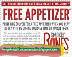 Smokey Bones Coupons Ends of Coupon Promo Codes MAY 2020 ! But Bones open Bones, in grill Smokey not it good but good one's it who fo. Hobbies For Couples, Hobbies That Make Money, Fun Hobbies, How To Make Money, Kfc Coupons, Pizza Coupons, Papa Johns Coupon Code, Pizza Hut Coupon, Godfathers Pizza