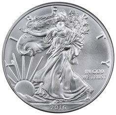 2016 1 Oz Silver American Eagle $1 Dollar BU Great Condition