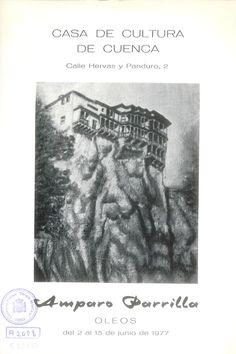 Óleos de Amparo Parrilla en la Casa de Cultura de Cuenca Junio 1977