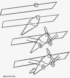 How to draw planes, trains, & trucks.  Four free downloads.