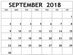 Editable September 2018 Calendar 2018 Calendar Template, Excel Calendar, Printable Blank Calendar, Calendar Wallpaper, Free Printables, September, Templates, Holiday, Stencils