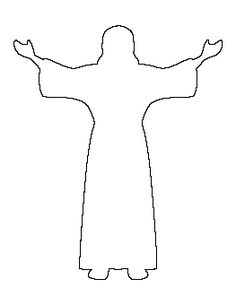 Praying hands pattern. Use the printable outline for