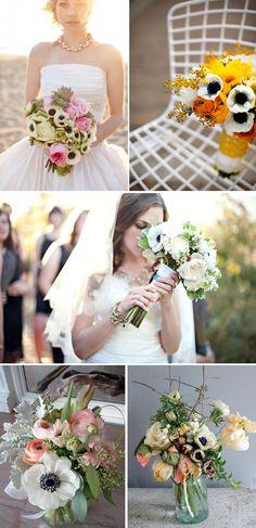anemone #wedding www.BlueRainbowDesign.com
