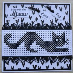 Cross Stitch Cards, Simple Cross Stitch, Cross Stitching, Gato Crochet, Knitted Tea Cosies, Embroidery Cards, Marianne Design, Card Patterns, Cross Stitch Patterns
