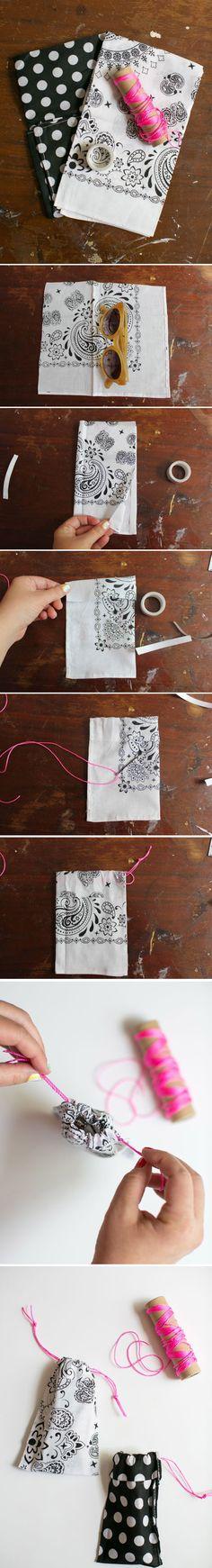 Bolsa para gafas DIY / http://www.henryhappened.com/