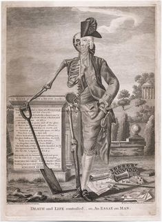 bartleby-company:  An Essay on Man, Death and Life Contrasted, Bowles & Carve, 18th century
