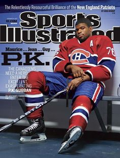 Subban, the charismatic star defenseman for the Montreal Canadiens, made the cover of Sports Illustrated! Montreal Canadiens, Mtl Canadiens, Hockey Teams, Hockey Players, Ice Hockey, Si Cover, Sports Illustrated Covers, National Hockey League, World Of Sports