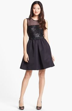 Bridesmaid Dresses - Taylor Dresses Mixed Media Fit & Flare (Regular & Petite) available at #Nordstrom
