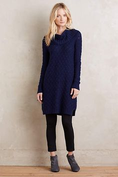 Cowled Sweater Dress - anthropologie.com