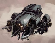 Keywords: concept spaceship art vehicle design digital illustration paintings by professional concept artist darren quach los angeles insomniac games ...