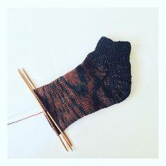 Work in progress: hand dyed wool socks. #socks #wool #handdyed #handmade #poemsaboutmeknits #poemsaboutmeshop #etsy