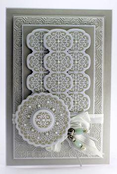 John Next Door: Silver Beads. Sue Wilson Dies, Spellbinders Cards, Sympathy Cards, Greeting Cards, Die Cut Cards, All Things Purple, Watercolor Cards, Card Tags, Blank Cards