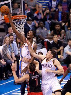 View photos for Player Photos: Hasheem Thabeet - Action Oklahoma City Thunder Basketball, Best Player, Raptors, Nba, Thunder Vs, Nov 6, Buttercup, Algebra, View Photos