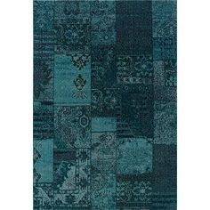 Patchwork Over-dyed Teal/ Grey Area Rug - x Blue, Style Haven (Polypropylene, Oriental) Shades Of Teal, Teal And Grey, Gray, Transitional Area Rugs, Aqua Area Rug, Teal Rug, Turquoise Rug, Blue Area, Machine Made Rugs