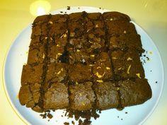 Receitas - Quadrados de chocolate e laranja - Petiscos.com