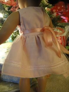 """Here is a free pattern for a very basic yet versatile dress to fit an American Girl or 18"""" doll. This is a great beginner sewing pattern to learn with!"""