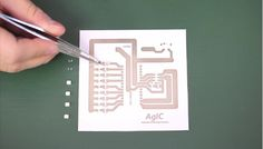 A Japanese company has developed special conductive ink that let people draw or print their own circuit boards.