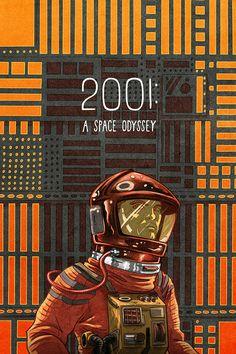2001 A Space Odyssey (1968) ~ Alternative Movie Poster by Max Temsescu ~ Kubrick Series #amusementphile