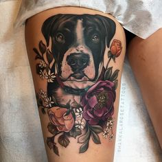 Awesome Dog Tattoos Ideas For Dog Lovers - Tattoo-Ideen Head Tattoos, Dog Tattoos, Animal Tattoos, Body Art Tattoos, Sleeve Tattoos, Tattoos For Pets, Tatoos, Small Tattoos, Tattoos For Dog Lovers