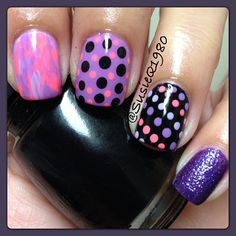#kitchensinkmani  She used Essie play date, CG flip flop fantasy, Julie j fairy tale and Opi cant let go.  @susieq1980