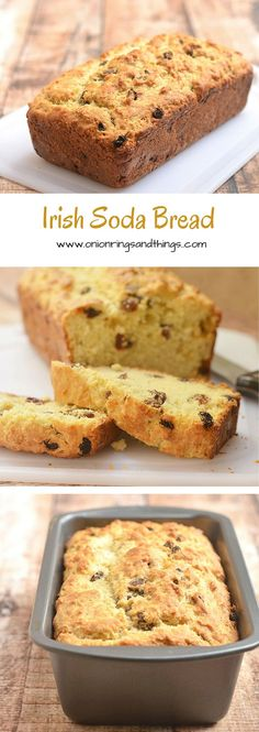Irish Soda Bread with a delicious golden crust on the outside, moist and fluffy on the inside, and generously studded with plump raisins is the best quick bread loaf you'll ever have! It's perfect for all your St. Patrick's celebration.