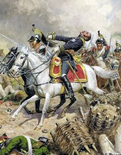 The death of Calaincourta during the charge of the Great Readout in the Battle of Borodino 1812. Fig. L. Rousselot.