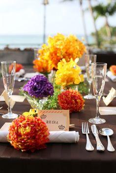 ブルームーンチャペルの写真「トロピカルな装花でパーティを盛り上げます」