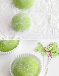 Homemade Mochi. I need to make this but with ice cream in the middle :)
