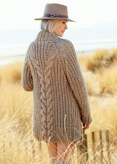 Cardigans in Rico Creative Twist Super Chunky - 344 - Downloadable PDF Cable Knitting, Hand Knitting, Baby Scarf, Crochet Wool, Christmas Knitting Patterns, Dress Gloves, Yarn Brands, Dame, Knitwear