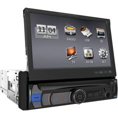 """Power Acoustik 7"""" Single-din In-dash Multimedia Receiver With Detachable Face (with Bluetooth)"""
