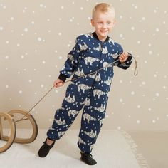 ARCTIC junior villahaalari, sininen | NOSH & KIVAT villavaatemallisto tarjoaa villavaatteita  ja asusteita syksyyn ja talveen! Pipoja myös aikuisille. Tutustu mallistoon ja tilaa NOSH vaatekutsuilta, edustajalta tai verkosta http://nosh.fi/category/950/ | (This collection is available only in Finland )