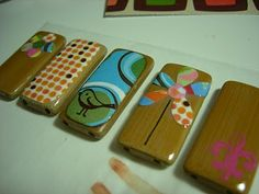 DIY Hand-Painted Pendants from Recycled Bamboo Placemat Tiles