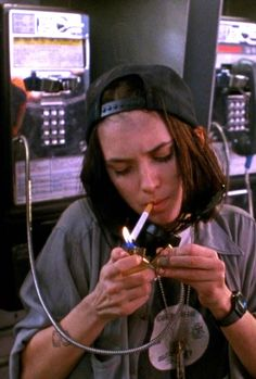 vintagesalt:  Winona Ryder in Night on Earth (1991)
