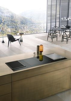 Kitchen with interior from Miele. Make your dinner and enjoy the beautiful view.