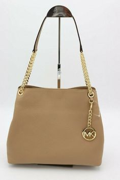 53ff7f17031acd NWT MICHAEL Michael Kors Jet Set Chain Camel Leather Shoulder Bag Tote New  $298 #MichaelKors #ShoulderBag