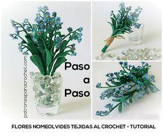 Flores Nomeolvides tejidas al crochet - Paso a paso ~ Patrones para Crochet