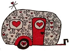 I dream of Glamping!: Retro Red black and white glamping design  This is my blog! Where I write my aspirations of being a full time artist, glamper, mother, and friend!  TW Art
