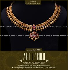 An antique touch to the classic Gejje Addige with a Kemp Pendent and kemp stones studded all along the balls. This Gejja Addige with kemp pendent makes for a elegant function wear! Browse more Gejje Addige designs below. Italian Gold Jewelry, Gold Jewelry Simple, Silver Jewellery Indian, Kerala Jewellery, Ruby Necklace Designs, Diamond Necklaces, Gold Necklace, Diamond Pendant, Jewelry Necklaces