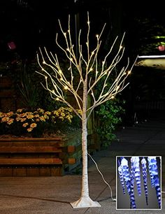 Lightshare™ NEW 4FT 48L LED Birch Tree,+Free Gift:10L LED Icicle Twinkling(white/Blue)Decoration Light,Home/Festival/Party/Christmas,Indoor and Outdoor Use,Warm White Lightshare™ http://www.amazon.com/dp/B00NPQHM52/ref=cm_sw_r_pi_dp_ruOIwb0ETEPC8